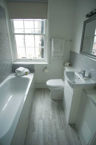 Bathroom in central southampton hotel